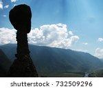 altai rocky mushrooms           ... | Shutterstock . vector #732509296