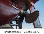 ships rudder and propeller of a ... | Shutterstock . vector #732512872