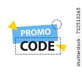 promo code  coupon code. flat... | Shutterstock .eps vector #732513265