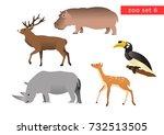 zoo animals vector logo icon...   Shutterstock .eps vector #732513505