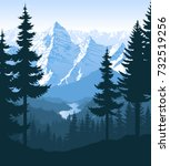 vector morning in beautiful...   Shutterstock .eps vector #732519256