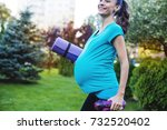 sports for moms. beautiful... | Shutterstock . vector #732520402