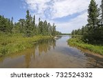 Small photo of Calm Waters on a Quiet Inlet on Missing Link Lake in The Boundary Waters of Minnesota