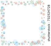 square frame or border... | Shutterstock .eps vector #732524728