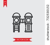 lodge vector icon  illustration ... | Shutterstock .eps vector #732530152