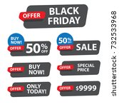 black friday banners set.... | Shutterstock .eps vector #732533968