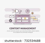content management system... | Shutterstock .eps vector #732534688