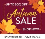 autumn fall sale 50  off one...   Shutterstock .eps vector #732540718