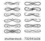 vintage calligraphic. design... | Shutterstock .eps vector #732541636