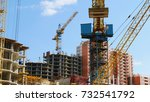 concrete building under...   Shutterstock . vector #732541792