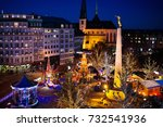 christmas fair in luxembourg.... | Shutterstock . vector #732541936