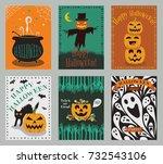 vector collection of halloween...   Shutterstock .eps vector #732543106