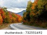 beautiful fall foliage along... | Shutterstock . vector #732551692
