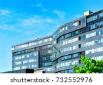 details of the modern office... | Shutterstock . vector #732552976