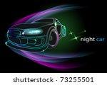 night car | Shutterstock .eps vector #73255501