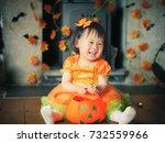 baby girl celebrating her first ...   Shutterstock . vector #732559966