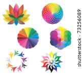 Set Of Color Wheels   Circles ...