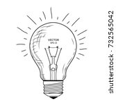 vector light bulb with concept... | Shutterstock .eps vector #732565042