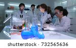 busy team of forensics... | Shutterstock . vector #732565636
