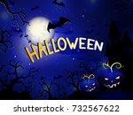 vector halloween illustration... | Shutterstock .eps vector #732567622