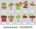 cute vector collection of north ... | Shutterstock .eps vector #732568495