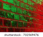 An Abstract Of A Grunge Red An...