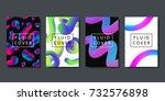 vector set of realistic... | Shutterstock .eps vector #732576898