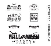 halloween black typography set | Shutterstock .eps vector #732581266