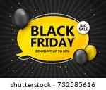 black friday sale  shopping... | Shutterstock .eps vector #732585616