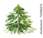 watercolor freehand... | Shutterstock . vector #732586672