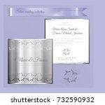 luxury wedding invitation... | Shutterstock .eps vector #732590932