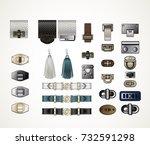 handbag accessories hardware... | Shutterstock .eps vector #732591298