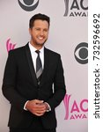 Small photo of LAS VEGAS, NV - April 02, 2017: Luke Bryan at the Academy of Country Music Awards 2017 at the T-Mobile Arena, Las Vegas