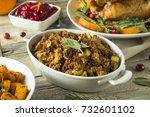 homemade organic thanksgiving...   Shutterstock . vector #732601102