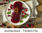 sweet canned cranberry sauce...   Shutterstock . vector #732601726