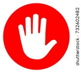 illustration of hand red circle ... | Shutterstock .eps vector #732602482