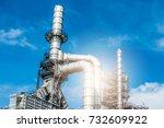 industrial zone the equipment... | Shutterstock . vector #732609922