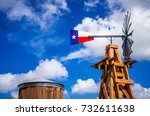 texas wind mill perfect symbol... | Shutterstock . vector #732611638