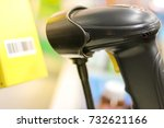 barcode scan machine with... | Shutterstock . vector #732621166