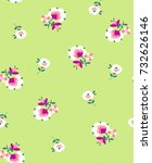 little ditsy flower print  ... | Shutterstock .eps vector #732626146