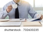 businessman working reading... | Shutterstock . vector #732633235