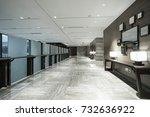 interior of modern office lobby. | Shutterstock . vector #732636922