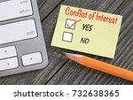 conflict of interest survey... | Shutterstock . vector #732638365