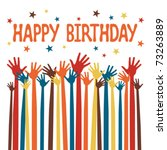 Happy Birthday Hands Design.