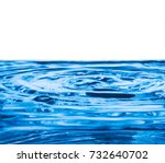 blue wave and bubbles on water... | Shutterstock . vector #732640702