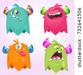 Cartoon Monsters. Vector Set O...