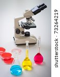 test tubes filled with colored... | Shutterstock . vector #73264219