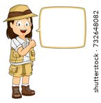 illustration of a kid girl...   Shutterstock .eps vector #732648082