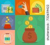 money vector commercial group... | Shutterstock .eps vector #732659422