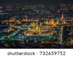 top view light up of the royal... | Shutterstock . vector #732659752